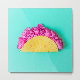 Flower Taco Metal Print