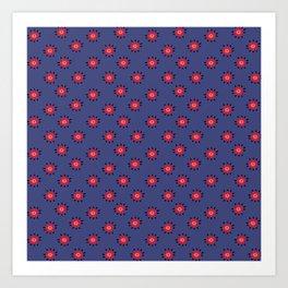 Pattern Manto Paracas Art Print