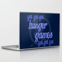 lorde Laptop & iPad Skins featuring Ya Ya Ya Hunger Ya Ya Ya Games - Blue by Hrern1313