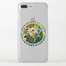 The Beauty of Weeds Clear iPhone Case