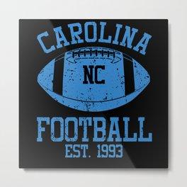 Carolina Football Fan Gift Present Idea Metal Print