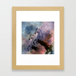 Retro: Horses Framed Art Print