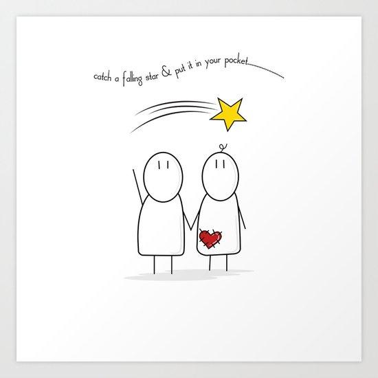 Jibsey & Jess. Catch A Falling Star Art Print