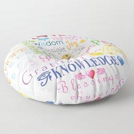 Inspirational Words Floor Pillow