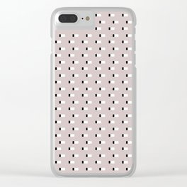 Minimal Squares - Neutral Latte Clear iPhone Case