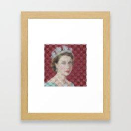 Dotted Queen Elizabeth Framed Art Print
