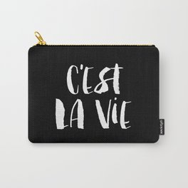 C'est La Vie black and white watercolor typography wall art home decor handwritten bedroom art inspo Carry-All Pouch
