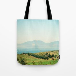 YESTERDAY YOU TOLD ME 'BOUT THE BLUE BLUE SKY Tote Bag