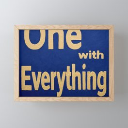 one with everything Framed Mini Art Print