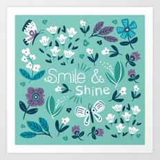 Smile & Shine Art Print