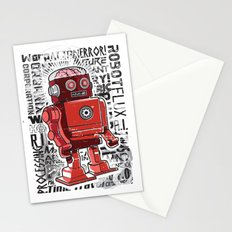 Robot Flux Stationery Cards