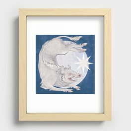 White boar Recessed Framed Print