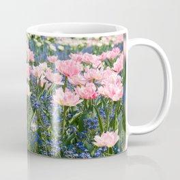 Foxtrot tulips blooming in garden Coffee Mug