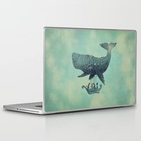 whimsical Laptop & iPad Skins featuring Tea at 2,000 Feet by Eric Fan