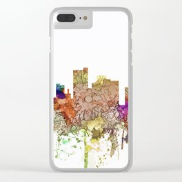 Lubbock, Texas Skyline - Faded Glory Clear iPhone Case