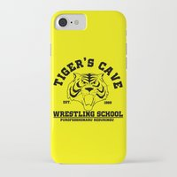 wrestling iPhone & iPod Cases featuring Tiger's cave wrestling school by CarloJ1956