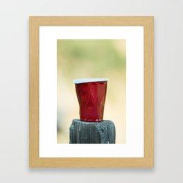 Warped Red Cup Framed Art Print