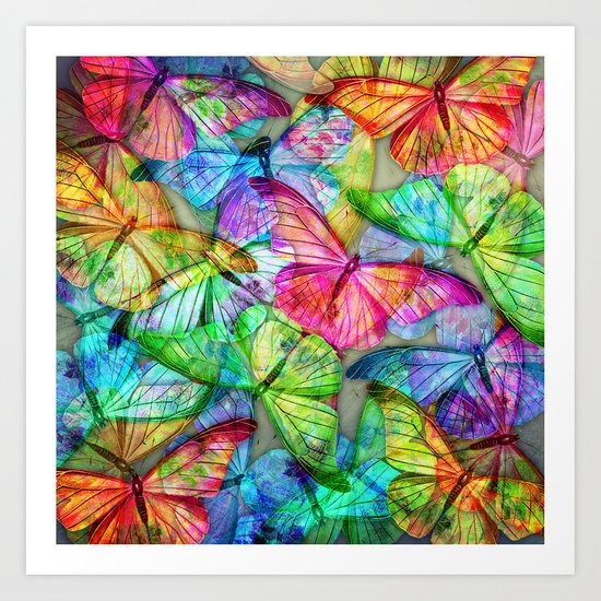 Butterfly Farm Art Print
