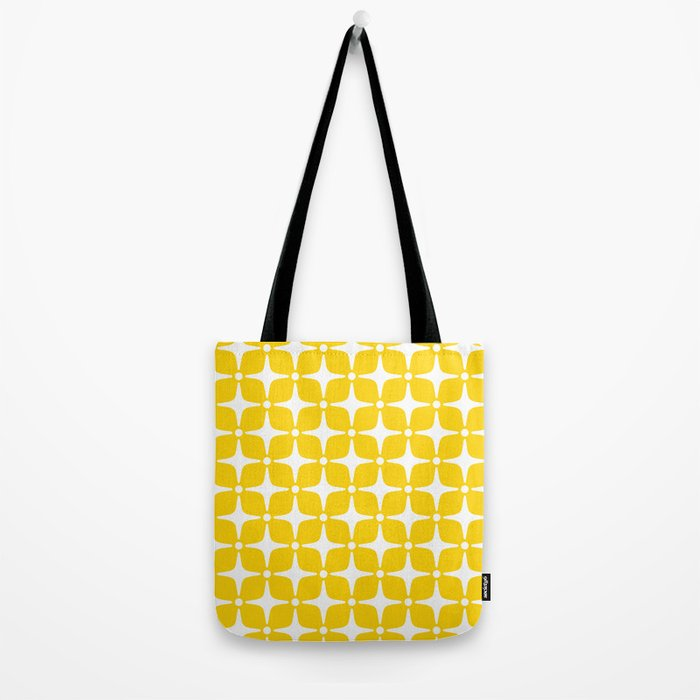 Mid Century Modern Star Pattern Yellow 2 Tote Bag