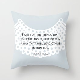 Fight, Lead - RBG (blue) *also in grey Throw Pillow