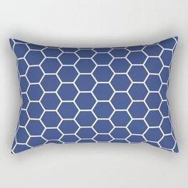 Blue honeycomb geometric pattern Rectangular Pillow