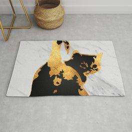 Golden Cat Rug