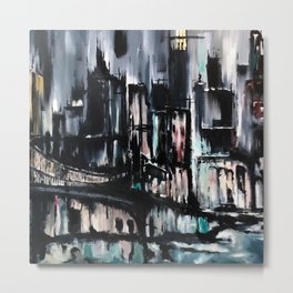 City Scape at Dusk Metal Print