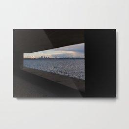 Sea City Skyline Metal Print
