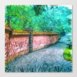 Abby Aldrich Rockefeller Garden Mount Desert Island Pencil Canvas Print