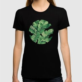 Tropical banana leaves VI T-shirt
