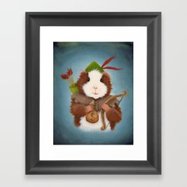 Guinea Pig Robin Hood Framed Art Print