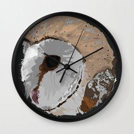 Round Barn Owl Wall Clock