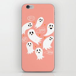 Friendly Ghosts in Pink iPhone Skin