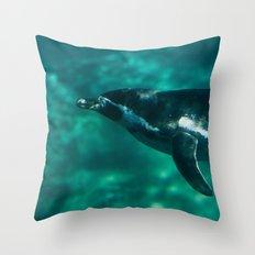Spheniscus Humboldti II Throw Pillow