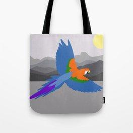 Parrot flying Tote Bag