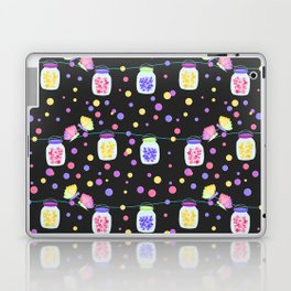 Fairy Stars and Hearts Mason Jars Black Background Laptop & iPad Skin