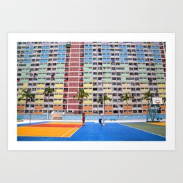 Hong Kong Popping Colors 1 Art Print