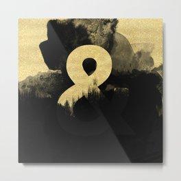 Black & Gold Metal Print