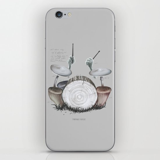 Mushroom drums iPhone & iPod Skin