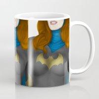 batgirl Mugs featuring Batgirl. by Hallowette