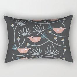Resting Birdies - Dark//Pastels Rectangular Pillow