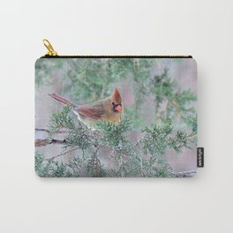 Pretty Female Cardinal Carry-All Pouch