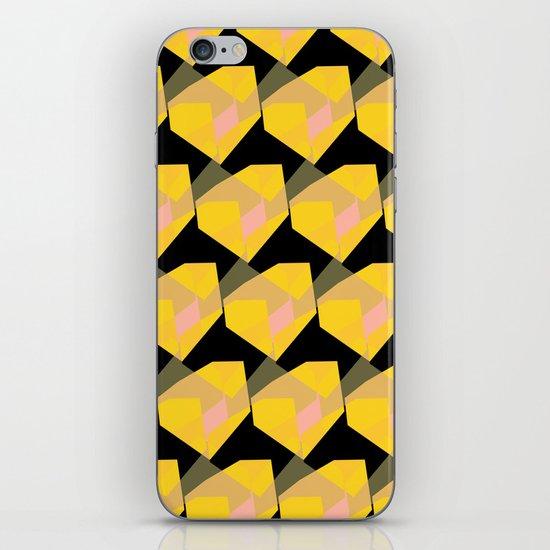 Yellow & Black iPhone & iPod Skin