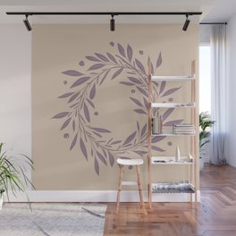 Purple Wreath  Wall Mural