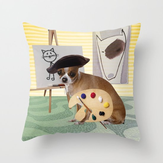Zee Arteest! Throw Pillow