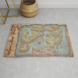 Super Mario World Map (Vintage Style) Rug