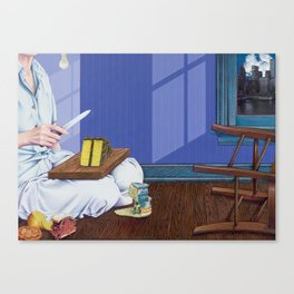 domestic scene Canvas Print