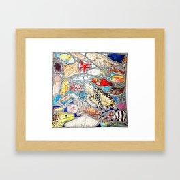 Marine life Framed Art Print