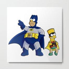superhero batrob simpson Metal Print