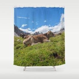 Dolomites 29 - Italy Shower Curtain